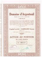 Action Ancienne - Domaine D'Argenteuil - Tourisme