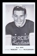 Carte Format CP Cyclisme, Vélo : Raoul RÉMY, Mercier Hutchinson. Voir Description Détaillée. - Cyclisme