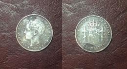 ESPAGNE - Alphonse XIII - UNA PESETAS 1900 SM V - Collections