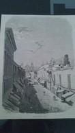 Affiche (gravure) -  La Rue Du Palais à LIMA - Afiches