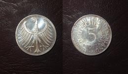 ALLEMAGNE - RFA -  5 DEUTSCHE MARKS - 1972 J - [ 7] 1949-… : FRG - Fed. Rep. Germany