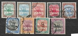 #176# SUDAN 7 USED STAMPS, WMK CRESCENT. CAMEL. - Sudan (...-1951)