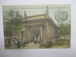 MARSEILLE  13     EXPOSITION COLONIALE 1906   -   PALAIS DES FORETS  D'ALGERIE           TRES  ANIME      TTB - Colonial Exhibitions 1906 - 1922