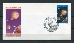DJIBOUTI ENVELOPPE PREMIER JOUR FDC 1993 Mi 586 CONQUETE DE L'ESPACE SPACE EARTH JUPITER SATELLITE SATELITE - TRES RARE - Djibouti (1977-...)