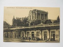 Monte-Carlo Vue D'ensemble Du Casino Et La Gare - Monte-Carlo