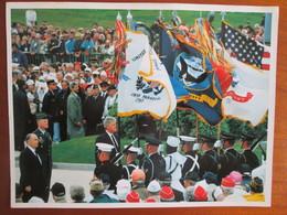 Photo  De La Commemoration Du Debarquement En Normandie, Mitterrand Et Clinton - Célébrités