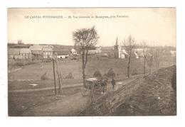 CPA 15 PIERREFORT (Oradour )  Vue Générale De ROUYRE Village Eglise Attelage Peu Commune - Autres Communes