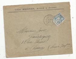 Lettre Commerciale , 1896, JOIGNY , Yonne,  Léon MEIGNEN , Avoué à Joigny - 1877-1920: Période Semi Moderne