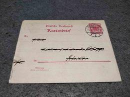 GERMANY STATIONERY CARD DUISBURG TO RHEYDT 1901 - Alemania