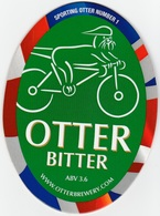 NEW UNUSED OTTER BREWERY (LUPPITT, ENGLAND) - BITTER - SPORTING OTTER No 1 - PUMP CLIP FRONT (2012) - Signs