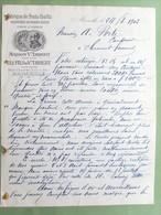 13 ,marseille ,facture Lettre Fabrique De Fruits Confits Maison Veuve Imbert..dim..27 Cm Par 21 Cm... - Marseilles