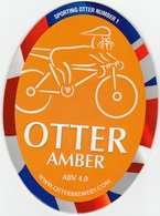NEW UNUSED OTTER BREWERY (LUPPITT, ENGLAND) - AMBER - SPORTING OTTER No 1 - PUMP CLIP FRONT (2012) - Signs