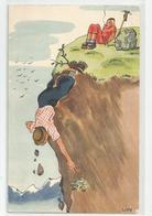 Illustrateur Lips Montagne Ecrite Les Bossons 1942 Ed Suisse Photoglob Wehril Vouga - Illustratori & Fotografie