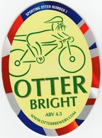 NEW UNUSED OTTER BREWERY (LUPPITT, ENGLAND) - BRIGHT - SPORTING OTTER No 1 - PUMP CLIP FRONT (2012) - Signs