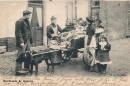 H129 - Marchande De Légumes - Attelage De Chien - Belgique