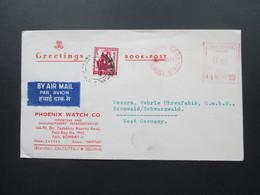Indien 1971 Roter Freistempel Bombay GPO Phoenix Watch Co. Book Post. - Briefe U. Dokumente