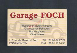 CDV CARTE DE VISITE GARAGE À MONTRY : - Cartes De Visite