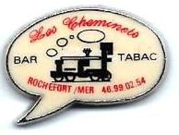 RESTAURATION - R202 - LES CHEMINOTS BAR TABAC - ROCHEFORT SUR MER- LOCO à VAPEUR - Verso : SM - TGV