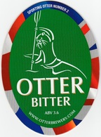 NEW UNUSED OTTER BREWERY (LUPPITT, ENGLAND) - BITTER - SPORTING OTTER No 2 - PUMP CLIP FRONT (2012) - Signs