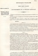 GUERRE De 1870 Decret N°5 Du 14 Octobre 1870  Déclaration De L'état De Guerre - Decrees & Laws