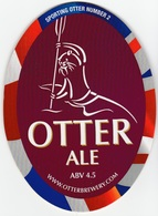 NEW UNUSED OTTER BREWERY (LUPPITT, ENGLAND) - ALE - SPORTING OTTER No 2 - PUMP CLIP FRONT (2012) - Signs