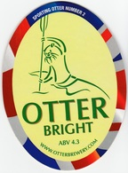 NEW UNUSED OTTER BREWERY (LUPPITT, ENGLAND) - BRIGHT - SPORTING OTTER No 2 - PUMP CLIP FRONT (2012) - Signs