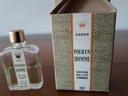 Pour Un Homme De CARON *Les Plus Belles Lavandes*  A Moitié Pleine JO D'Hiver De Grenoble 1968 - Vintage Miniatures (until 1960)