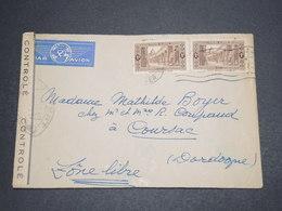 ALGÉRIE - Enveloppe De Alger Pour Coursac ( Zone Libre ) En 1941 Avec Contrôle Postal - L 16349 - Algeria (1924-1962)