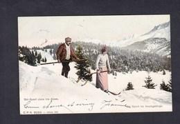 Suisse Ski Sport Dans Les Alpes  Im Hochgebirge  C.P.N. 9053 Serie 101 Départ Geneve - Suisse