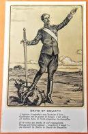 """CPA Guerre 1914-18. Edit. Illus. Sans """" David Et Goliath"""" Représentés Par Albert Contre Guillaume. Petit Texte - Oorlog 1914-18"""
