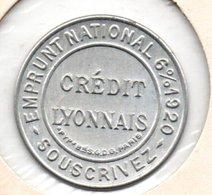 """CPV Timbre Monnaie """"Emprunt National"""" Du Crédit Lyonnais"""" 10c Rouge - Monétaires / De Nécessité"""
