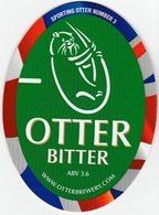 NEW UNUSED OTTER BREWERY (LUPPITT, ENGLAND) - BITTER - SPORTING OTTER No 3 - PUMP CLIP FRONT (2012) - Signs