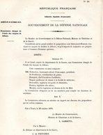GUERRE De 1870 Decret N°10 Du 20 Octobre 1870  état Des Moyens De Défense - Decrees & Laws