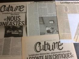 Polémique Sur La Critique Ciné & Le Manifeste Des Réalisateurs En Colère : Dossier Composé De 18 Articles Parus En 1999 - Altre Collezioni