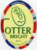 NEW UNUSED OTTER BREWERY (LUPPITT, ENGLAND) - BRIGHT - SPORTING OTTER No 3 - PUMP CLIP FRONT (2012) - Signs