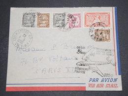 INDOCHINE - Enveloppe De Saigon Pour La France En 1950 , Affranchissement Varié - L 16357 - Indochina (1889-1945)