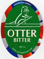 NEW UNUSED OTTER BREWERY (LUPPITT, ENGLAND) - BITTER - SPORTING OTTER No 4 - PUMP CLIP FRONT (2012) - Signs
