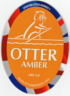 NEW UNUSED OTTER BREWERY (LUPPITT, ENGLAND) - AMBER - SPORTING OTTER No 4 - PUMP CLIP FRONT (2012) - Signs