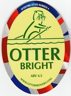 NEW UNUSED OTTER BREWERY (LUPPITT, ENGLAND) - BRIGHT - SPORTING OTTER No 4 - PUMP CLIP FRONT (2012) - Signs