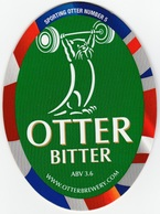 NEW UNUSED OTTER BREWERY (LUPPITT, ENGLAND) - BITTER - SPORTING OTTER No 5 - PUMP CLIP FRONT (2012) - Signs