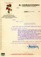 POLOGNE.TORUÑ.B.HOZAKOWSKI. - Invoices & Commercial Documents