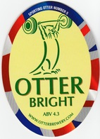 NEW UNUSED OTTER BREWERY (LUPPITT, ENGLAND) - BRIGHT - SPORTING OTTER No 5 - PUMP CLIP FRONT (2012) - Signs