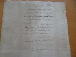07/07/1745 Montpellier Testament 6 Pages Bose Bofe Original Sur Papier - Documents Historiques