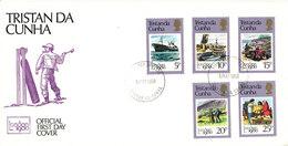 Tristan Da Cunha FDC 6-5-1980 London 1980 Complete Set Of 5 With Cachet - Tristan Da Cunha