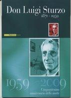 """2009 Italia, Folder """"Don Luigi Sturzo"""" Al Prezzo Di Copertina - 1946-.. République"""