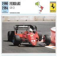 Fiche Editions Atlas Automobile Voitures De Course Ferrari 126 C3 - Voitures