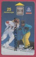 SUEDE--Télécarte 25----Skieuses--chip SC4 - Suède