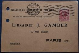 Carte Commerciale ROME Pour PARIS. 1922. - 1900-44 Vittorio Emanuele III