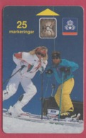 SUEDE--Télécarte 25----Skieuses--chip SC5 - Suecia