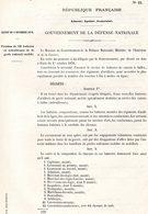 GUERRE De 1870 Decret N°22 Du 3 Novembre 1870 Création De 12 Batteries De Mitralleuses - Decrees & Laws